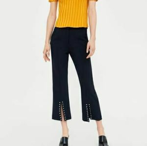ZARA BASIC | split hem trousers with studs
